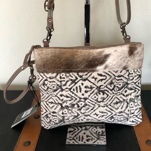 Handbags - Myra bag dual strap cotton rug Pouch Crossbody NWT